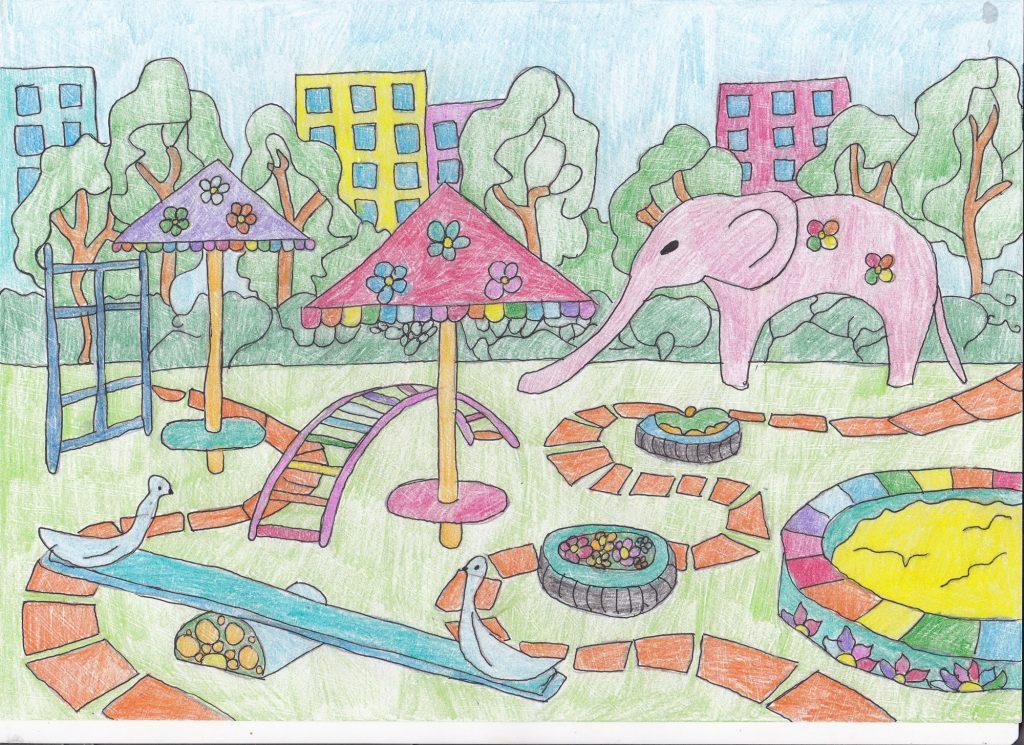 Картинки рисунки двора